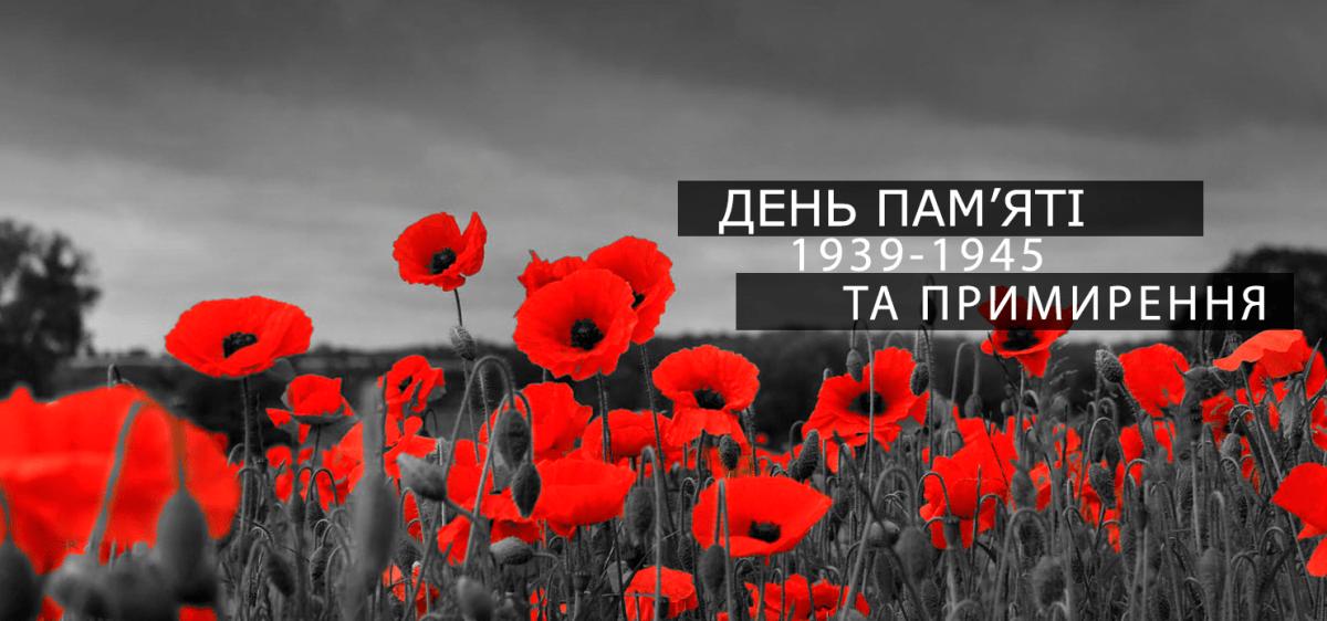 Привітання з Днем пам'яті та примирення. 8 травня листівка